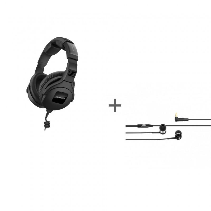 Наушники Sennheiser HD 300 PRO, Черный + наушники CX 100 Black в подарок!